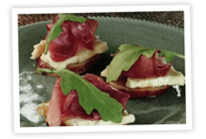 stacys-bake-shop-pretzel-baguette-crisps-with-st-andre-cheese-prosciutto-and-truffle-honey