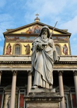 Front of the Basilica of Saint Paul Outside the Walls - Roma - Italy