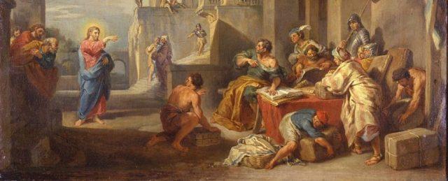 Jesus calls Matthew Giovanni Paolo Panini