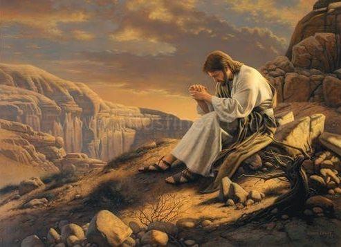 Jesus Praying Alone