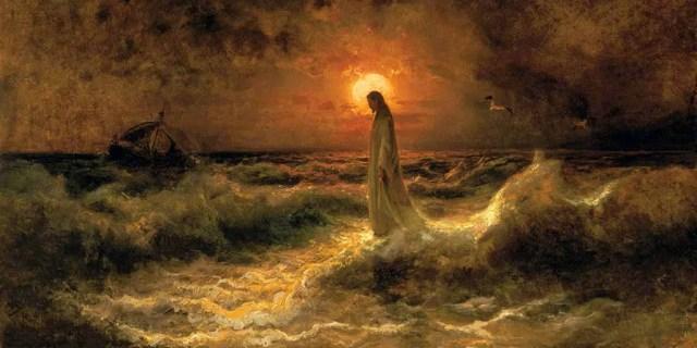 Christ Walking on the Waters Julius Sergius Von Klever