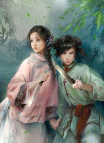 This illustration was commissioned by the author and shows Zhen Ni (left) and Skybright (right) as depicted by artist Phoenix Lu (http://phoenixlu.deviantart.com/)