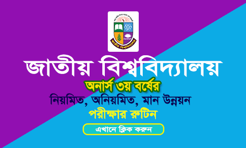 NU Honours 3rd Year Exam Routine 2018