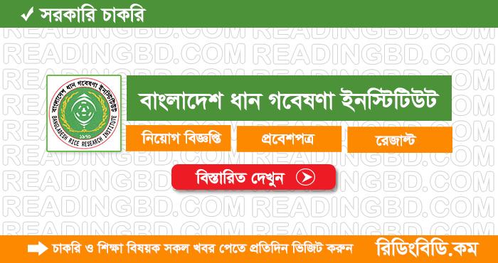 Bangladesh Rice Research Institute Job Circular 2019