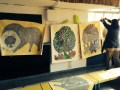 Gond Artist Gariba's works and workshop