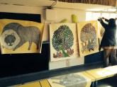 Gond Artist Gariba's works and workshop
