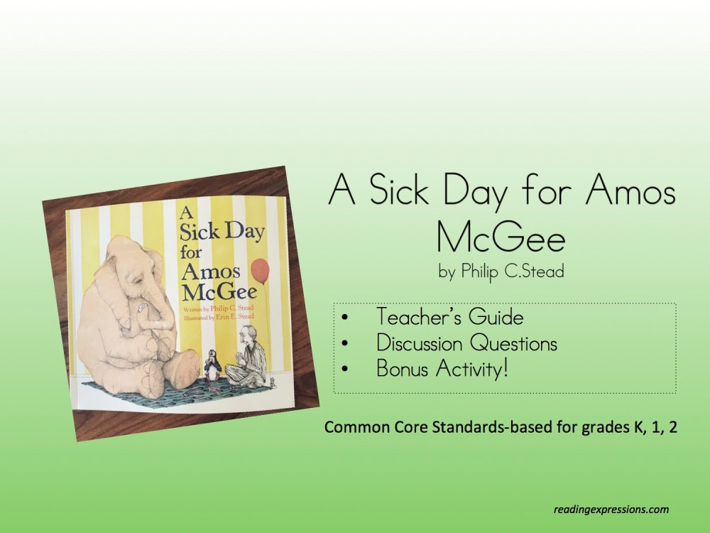 medium resolution of A Sick Day for Amos McGee – Reading Expressions