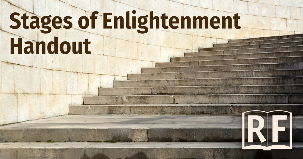 Stages of Enlightenment Handout