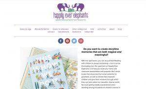happily ever elephants home page screenshot