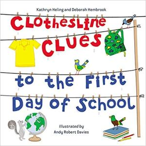 clothesline clues to the first day of school cover