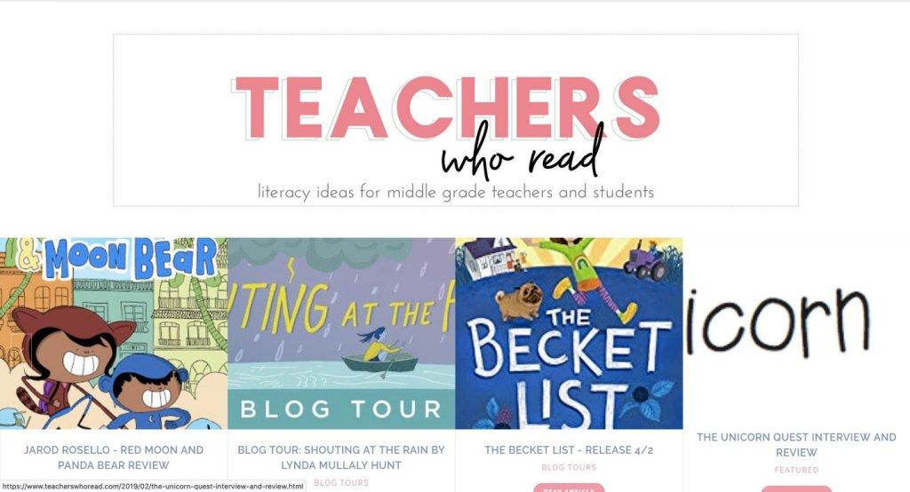 best kid lit blogs - teachers who read