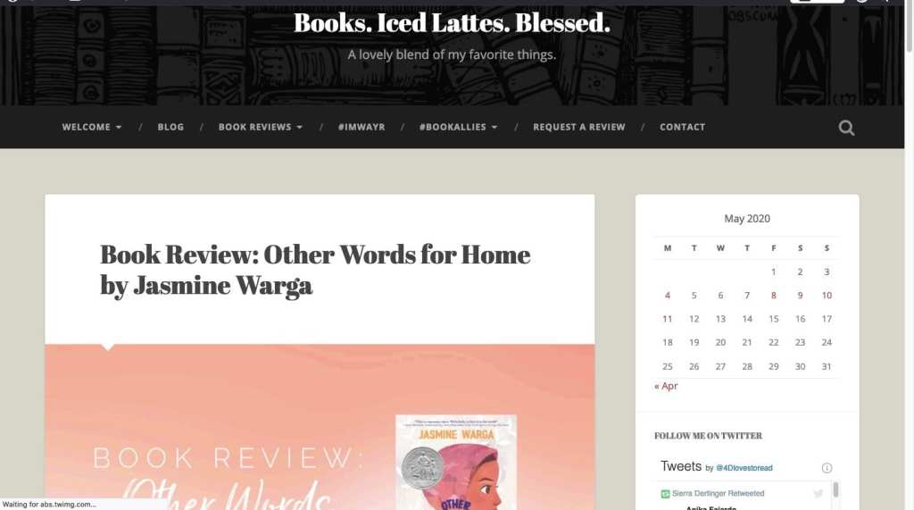 Books. Iced Lattes. Blessed. - best middle-grade book/kid lit blogs