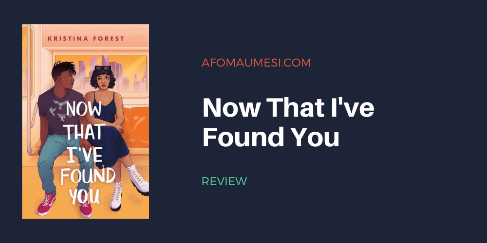 now that i've found you - book review