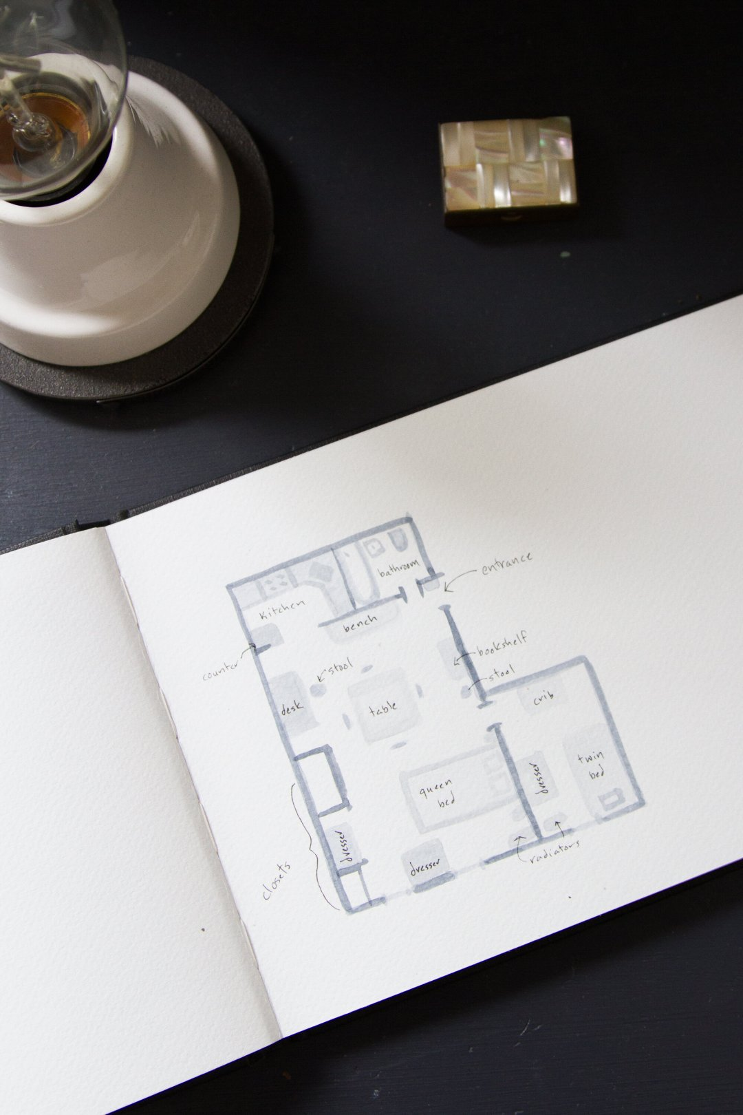 floor plan | life in a tiny apartment | reading my tea leaves