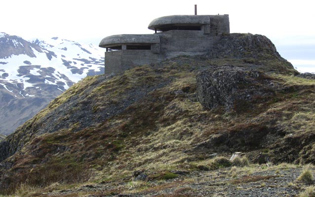 WWII lookout Amaknak island pic