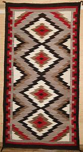 Navajo rug with geometric design