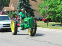 tractor in town