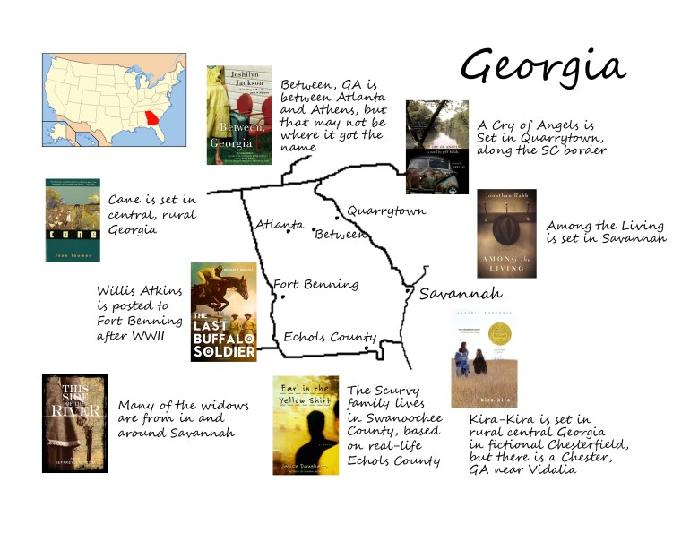 Georgia book map