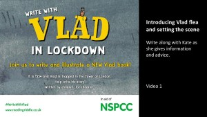 Write With Vlad – in aid of NSPCC