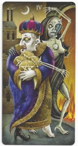 deviant moon tarot four pentacles