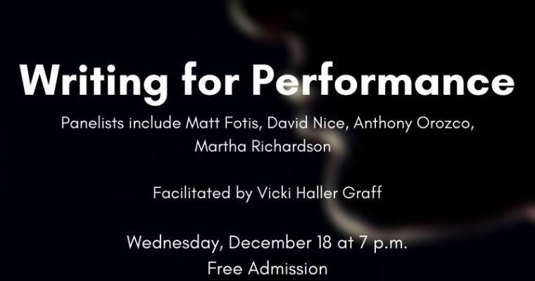 PANEL: Writing for Performance