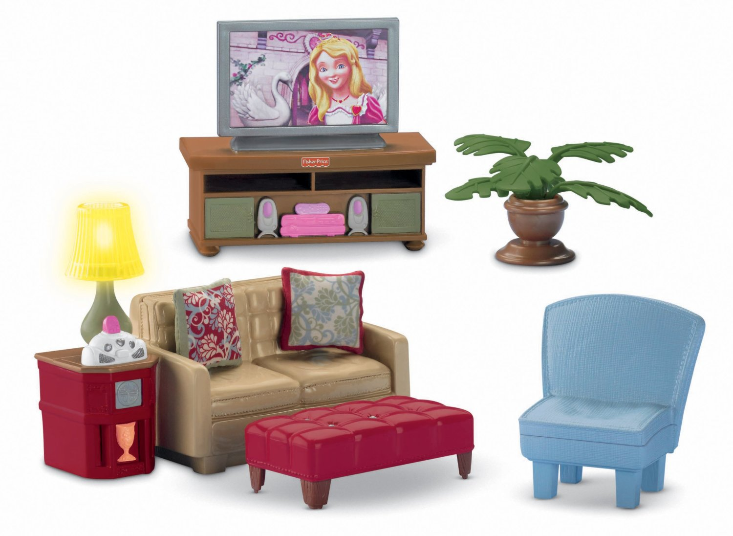 Family Room as TV Room Fisher Prices Loving Family