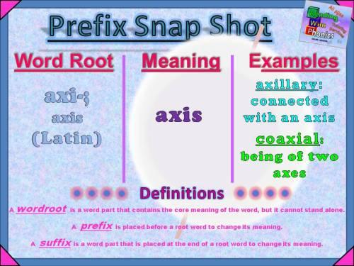 axi- Prefix Snap Shot