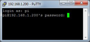 Log into the Pi