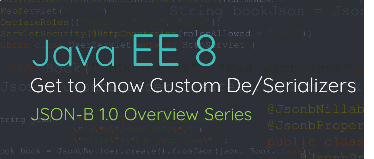 Get to Know Custom De/Serializers: JSON Binding Overview Series