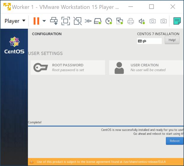 Root password set
