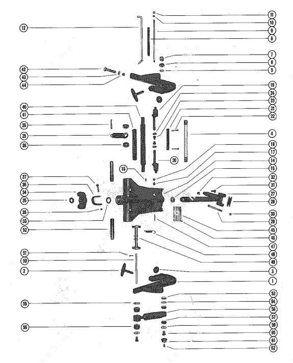 Mercury/Mariner 1150, Clamp and Swivel Bracket Assembly