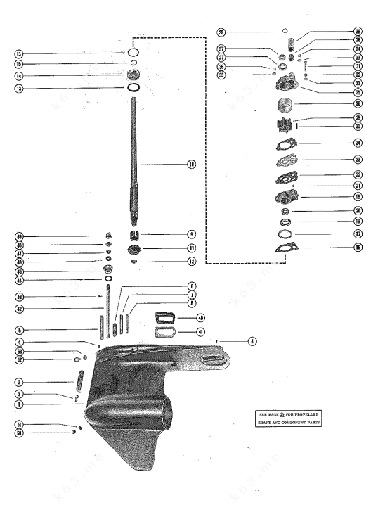 Mercury/Mariner 1150, Gear Housing Assembly, Complete Page