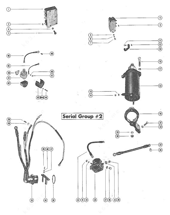 Mercury/Mariner 850 4 Cyl., Starter Motor and Wiring