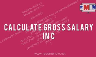 calculate gross salary in C