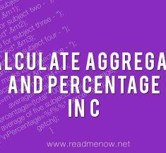 Calculate aggregate and percentage in C