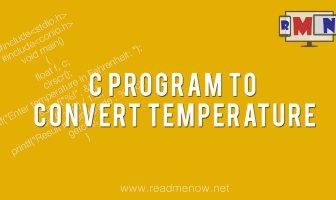 C program to convert temperature