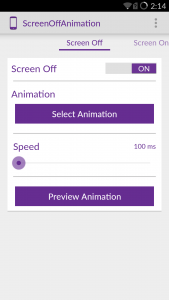 Screen Off Animation