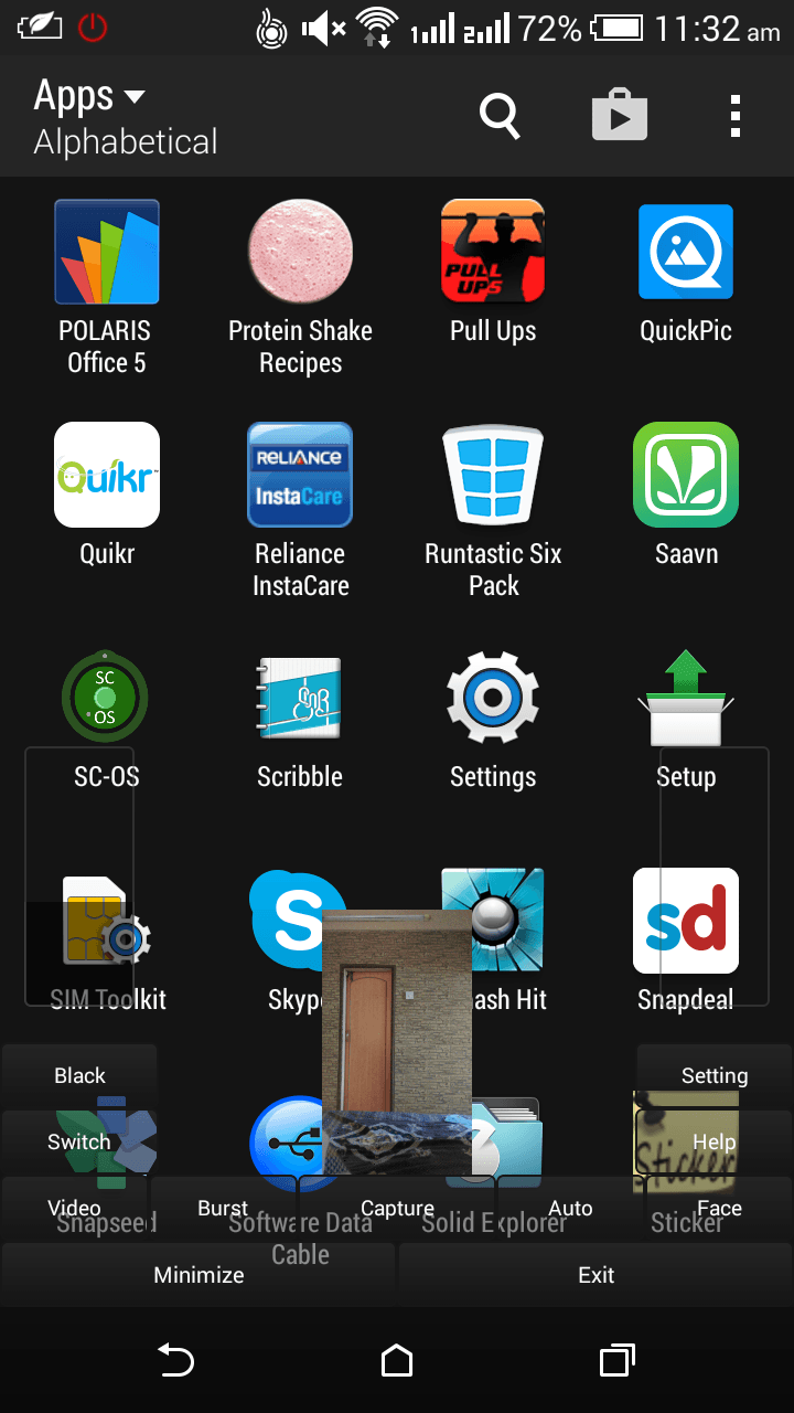 When you launch the app, it looks like this. You get all the options ...