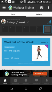 fitness apps for android trainer