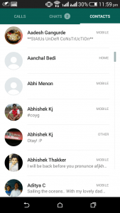 whatsapp material design contacts