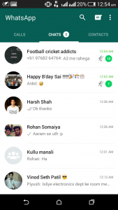 whatsapp material design chats