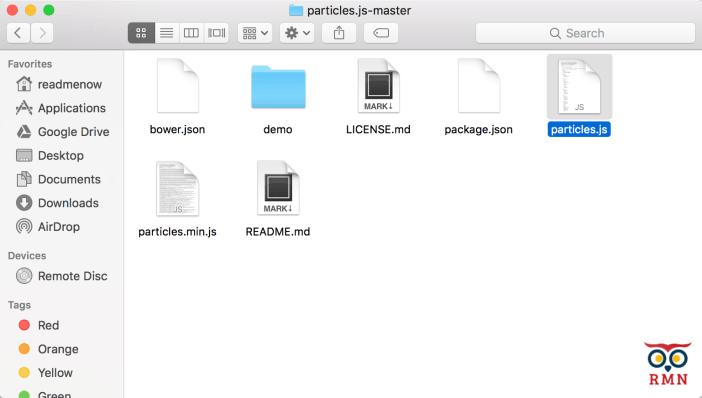 Particles.js Files