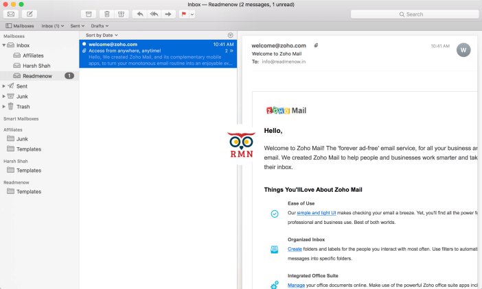 How to Configure Zoho Mail in Apple Mail