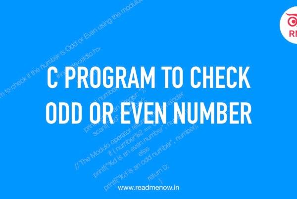 C porgram to check odd or even number