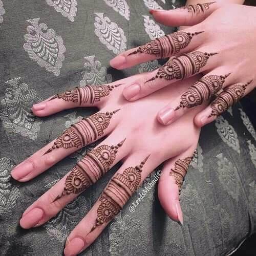 10. Finger voll Arabisch Mehndi Design - Arabisch Mehndi Designs 2019
