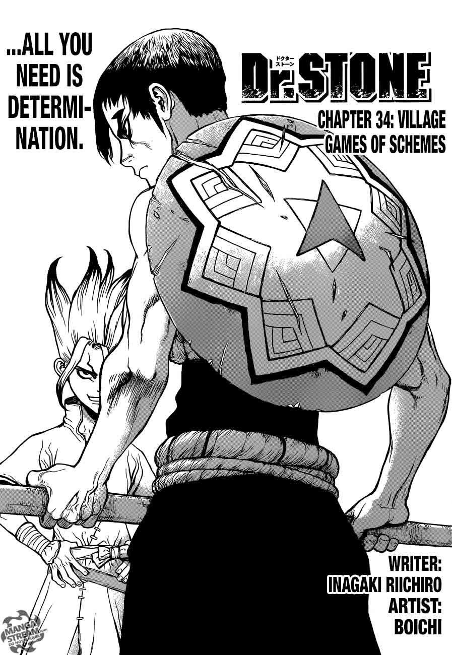 Dr. Stone : Chapter 34 - Village Games of Schemes image 001