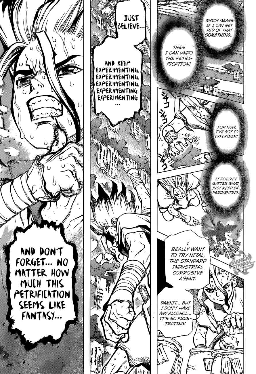 Dr. Stone : Chapter 14 - What you believe in image 014