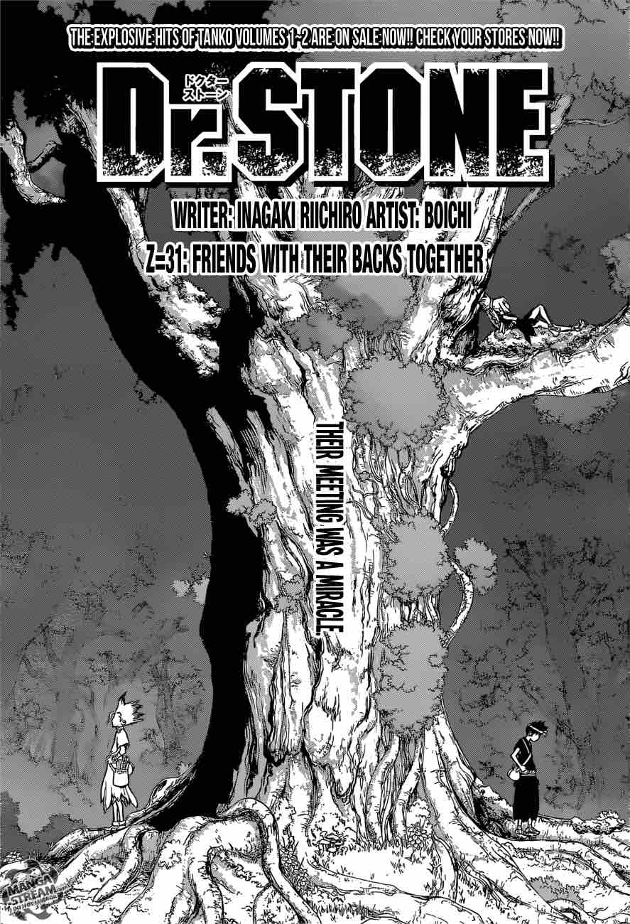 Dr. Stone : Chapter 31 - Friends with their backs together image 001