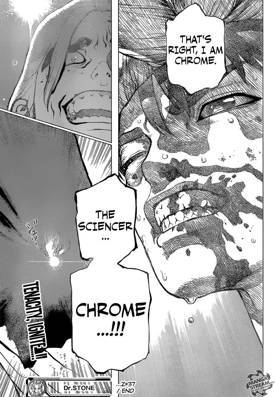 Dr. Stone : Chapter 37 - Chome the Sciencer image 018