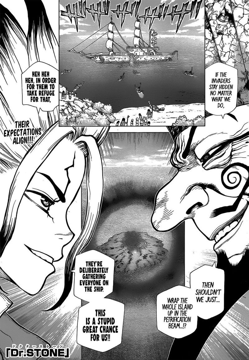 Dr. Stone : Chapter 128 - All-Out Battle Royal image 001